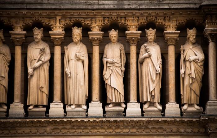 Notre Dame Statues 700x448 Notre Dame Statues Wallpaper Art architecture