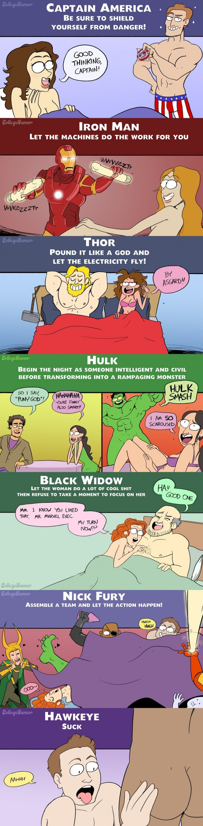 The Avengers in Bed