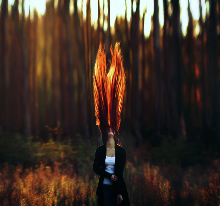 Fire tree hair