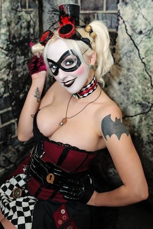 Harley with Batman Tattoo.jpg