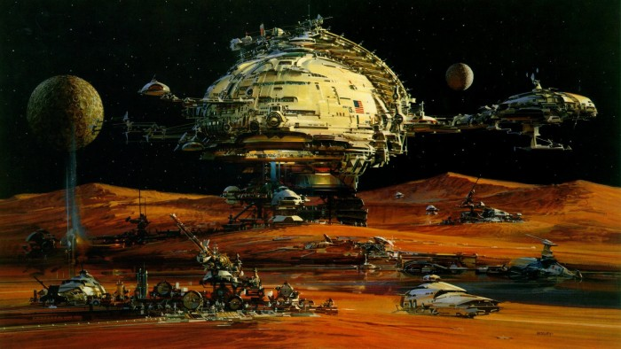 Moon Extraction 700x394 Moon Extraction Wallpaper Fantasy   Science Fiction