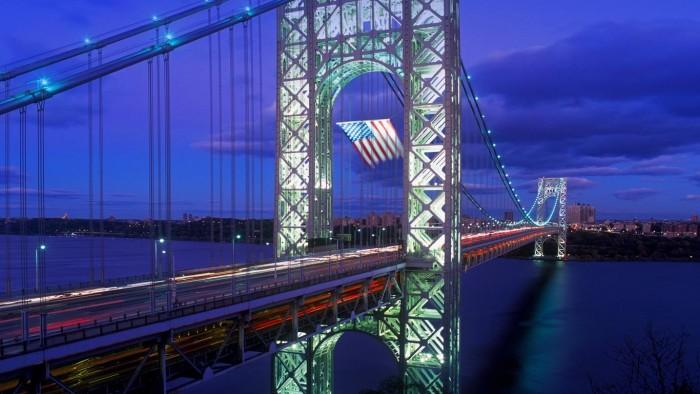 Old Glory flies over George Washington Bridge.jpg