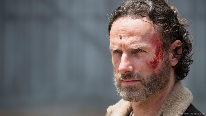 Rick has a cut on his forehead.jpg