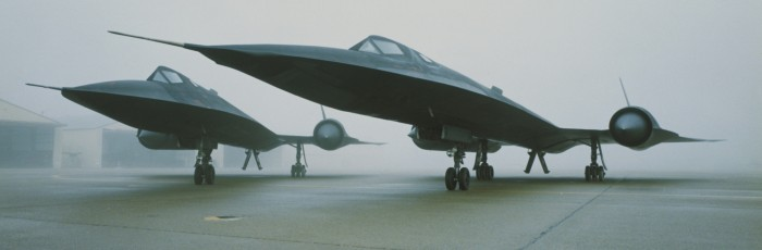 SR-71 in the mist