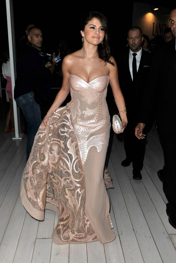 Selena in a stunning dress.jpg