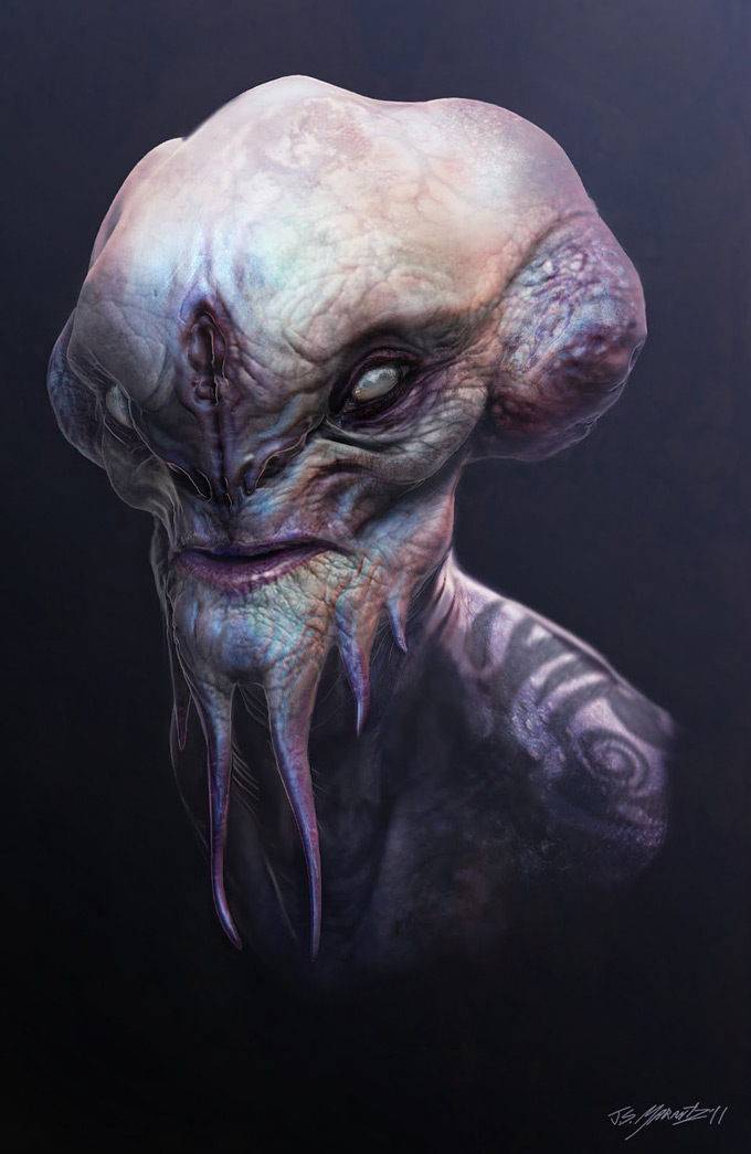 alien thing Art