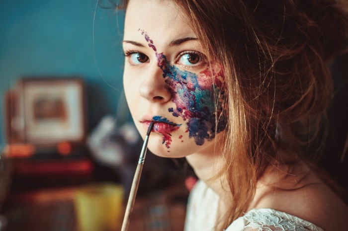 she got art on her face.jpg