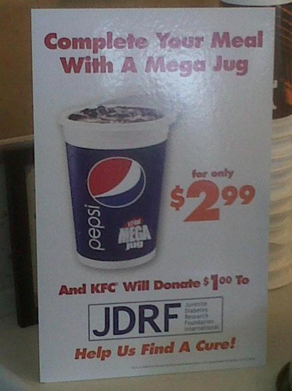 Complete your meal with a mega jug - find a cure.jpg