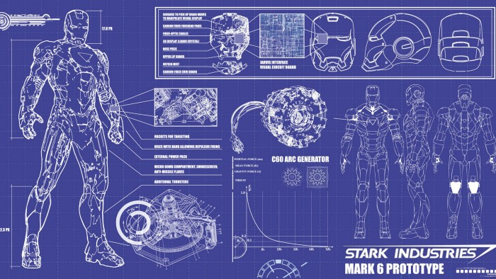 Iron Man blue prints 700x394 Iron Man blue prints