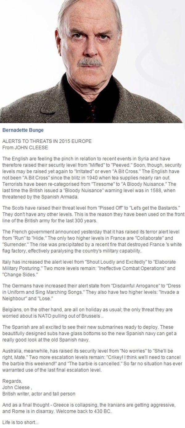 John Cleese on Europe