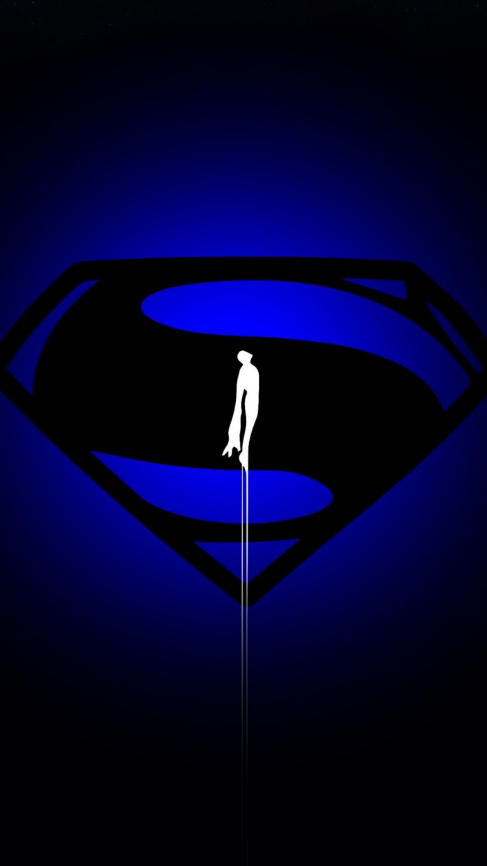 Superman in BLUE 700x1244 Superman in BLUE