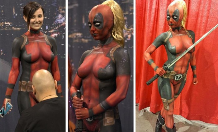 lady deadpool cosplay 700x425 lady deadpool cosplay