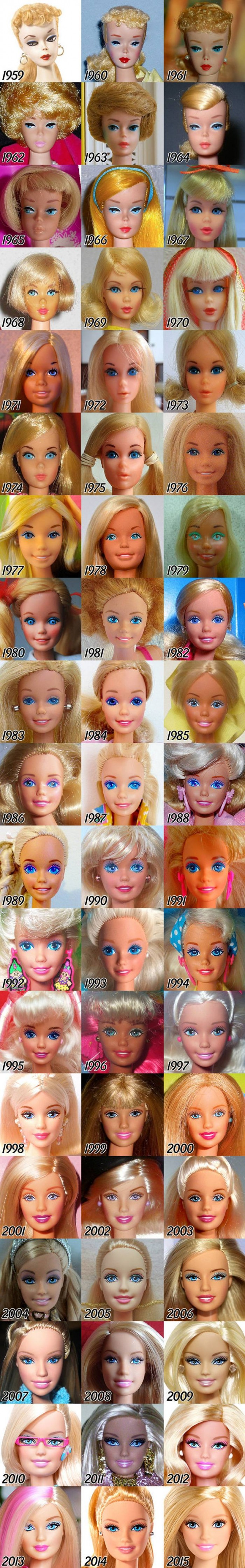 Barbie through the years.jpg