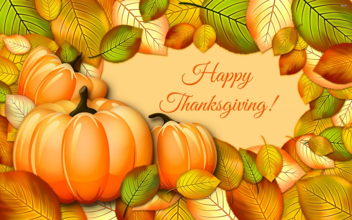 Happy Thanksgiving Wallpaper - pumpkin and leaves.jpg