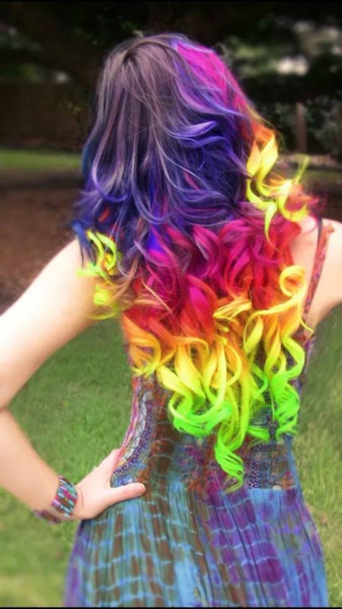 Awesome Rainbow Hair