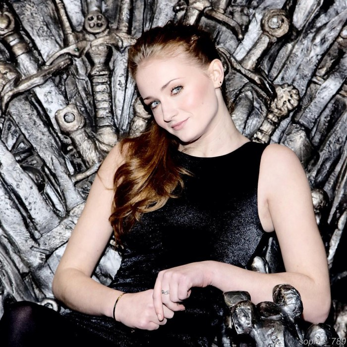 Sophie Turner on the throne.jpg