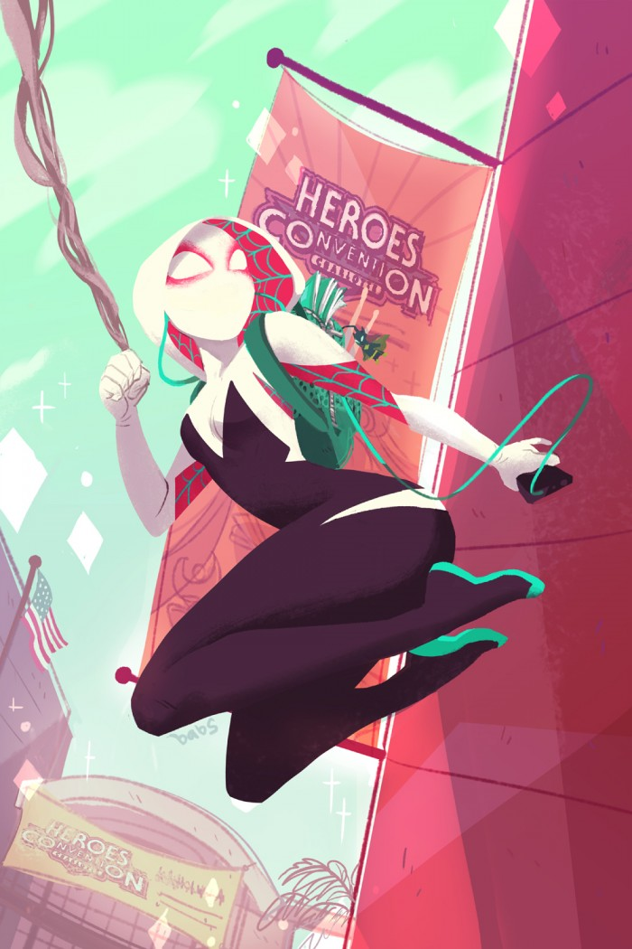 Spider-Gwen at the Heroes Convention.jpg