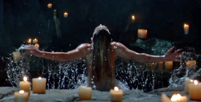 White Canary Getting out of her bath.jpg