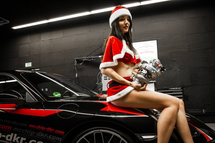 sexy christmas girl on car.jpg