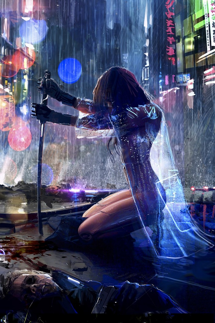 Neon Sword Work 700x1050 Neon Sword Work vertical wallpaper Sexy NeSFW Fantasy   Science Fiction