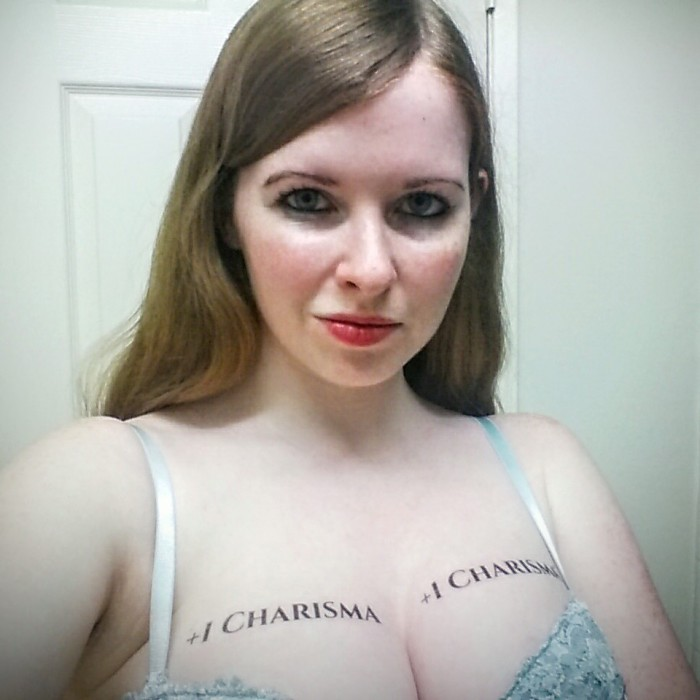Plus one to charisma 700x700 Plus one to charisma Sexy NeSFW Humor Gaming