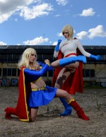 Power Girl Supergirl 004 150x194 supergirl and powergirl cosplay supergirl Sexy powergirl cosplay Comic Books