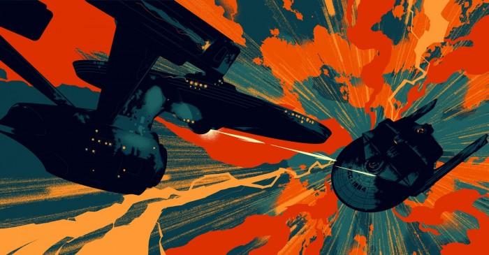 Star Trek II by Mondo 700x365 Star Trek II by Mondo Wallpaper star trek
