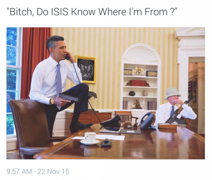 bitch do isis know 700x595 bitch do isis know Humor barack obama