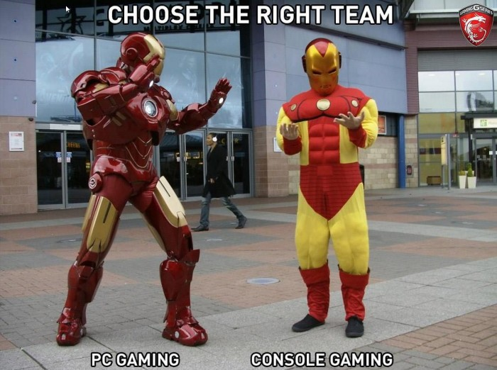 choose the right team 700x522 choose the right team Wallpaper Humor cosplay Computers Comic Books