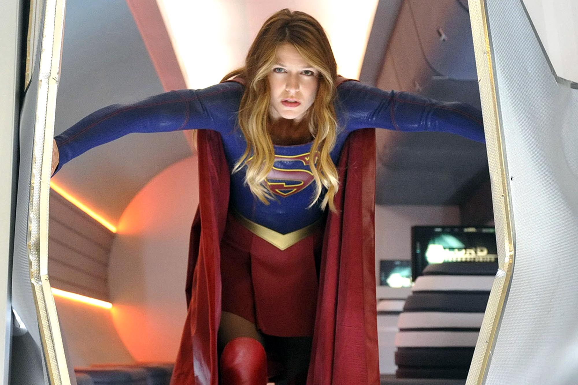 supergirl in an airplane supergirl in an airplane