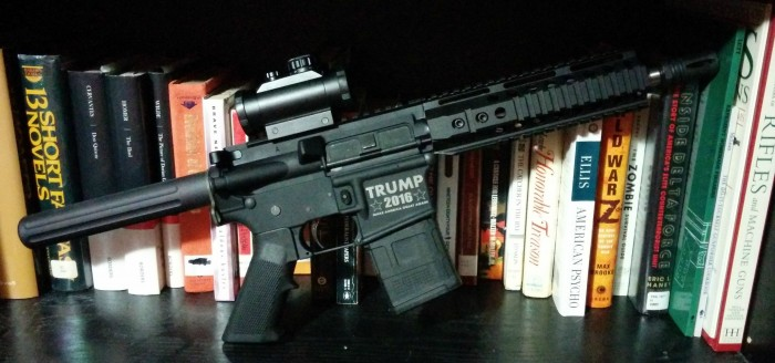 trump 2016 rifle 700x328 trump 2016 rifle Weapons Wallpaper election 2016 donald trump