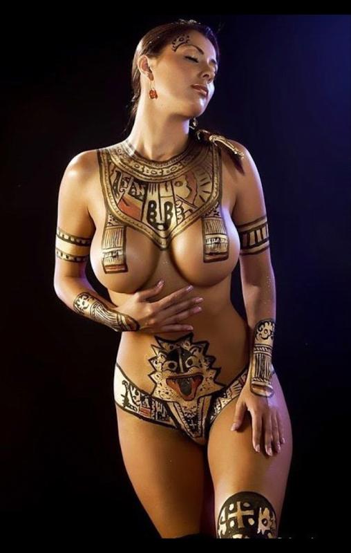 ancient body paint ancient body paint Sexy NeSFW Art