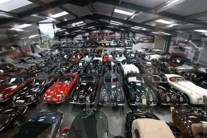 impressive car collection