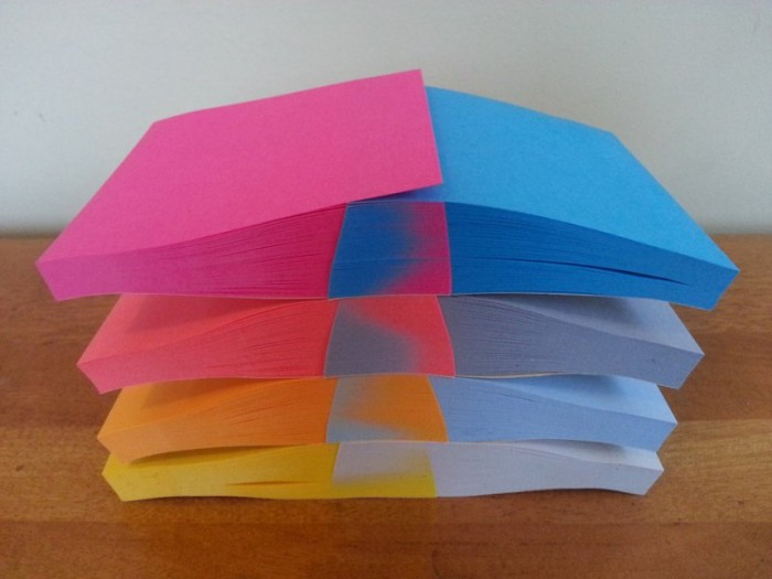 sorted paper pads