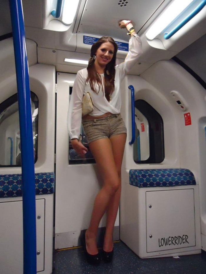 tall lady on the tube