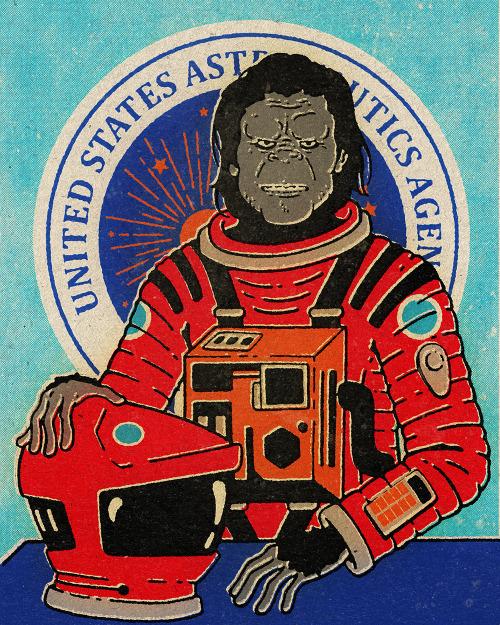 tumblr nlpyz9mYbR1qzdxxso1 500 United States Astronautics Agency United States Astronautics Agency illustration Humor Art 2001
