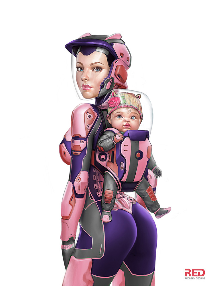 tumblr nwivloTIPN1s7ur72o1 1280 space mom space mom illustration Fantasy   Science Fiction Art