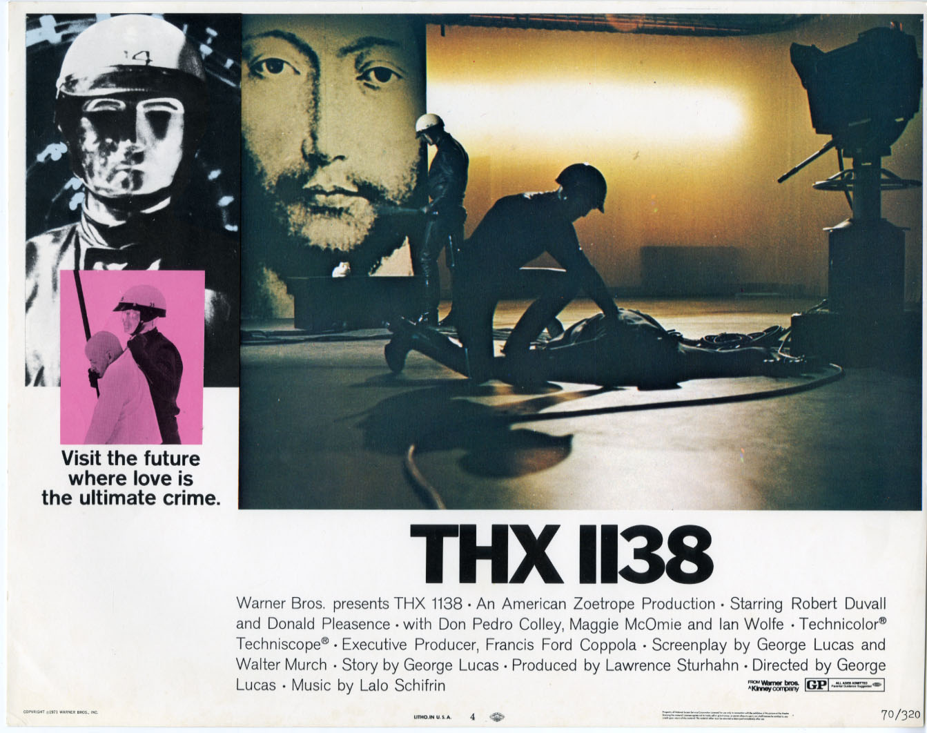 22718 THX 1138 THX 1138 Photography lobby cards design