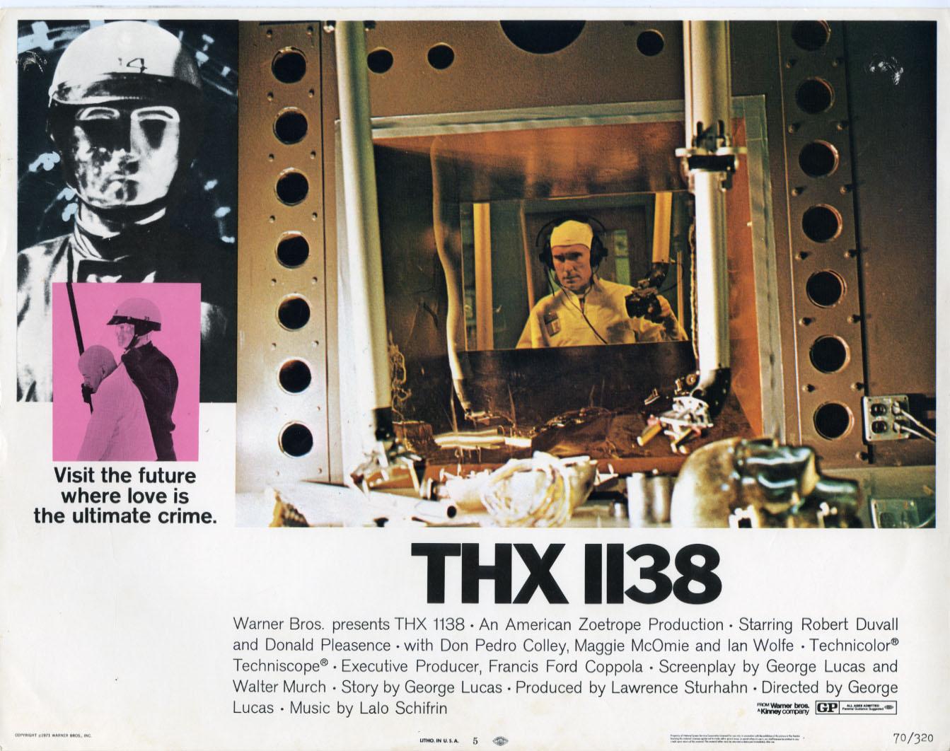 22718 2 THX 1138 THX 1138 Photography lobby cards design