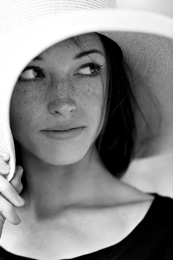 freckled black and white women fashion