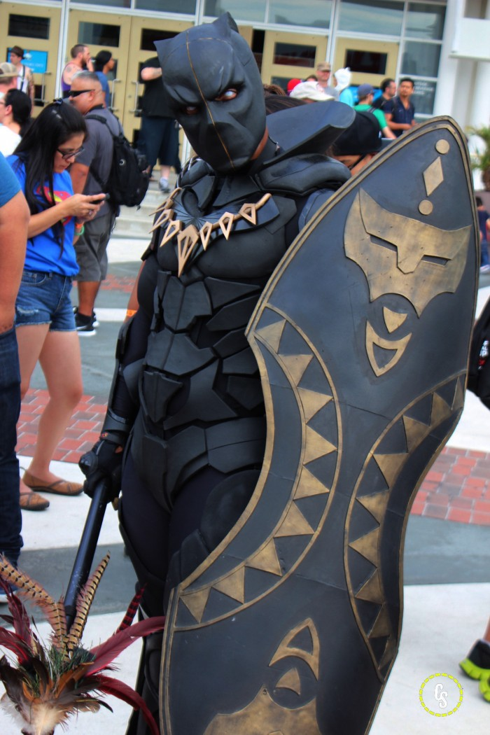 Black Panther Cosplayer