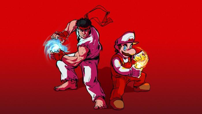 Mario and Ryu - fire power.jpg