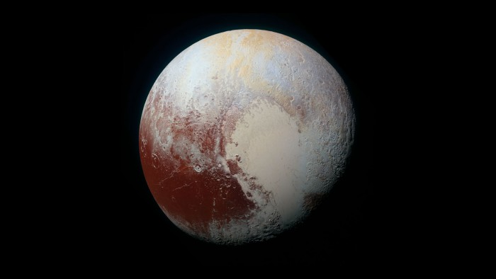 Pluto in the black