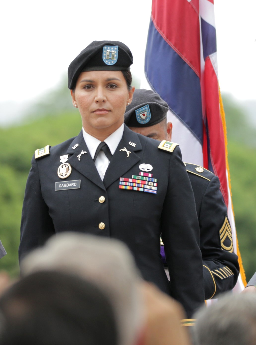 Rep. Gabbard at her promotion to Major 1.jpg