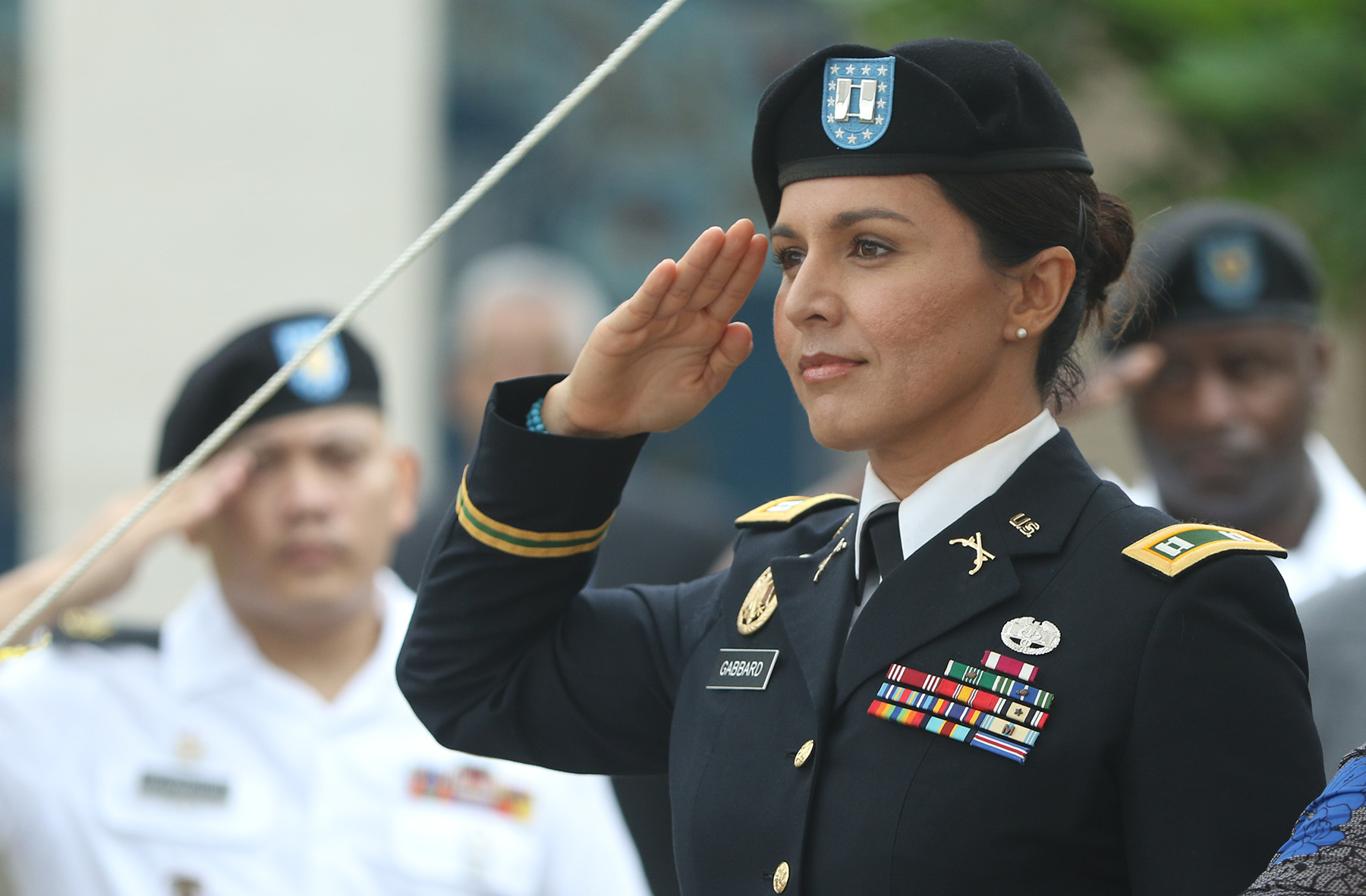 Rep. Gabbard at her promotion to Major 2.jpg