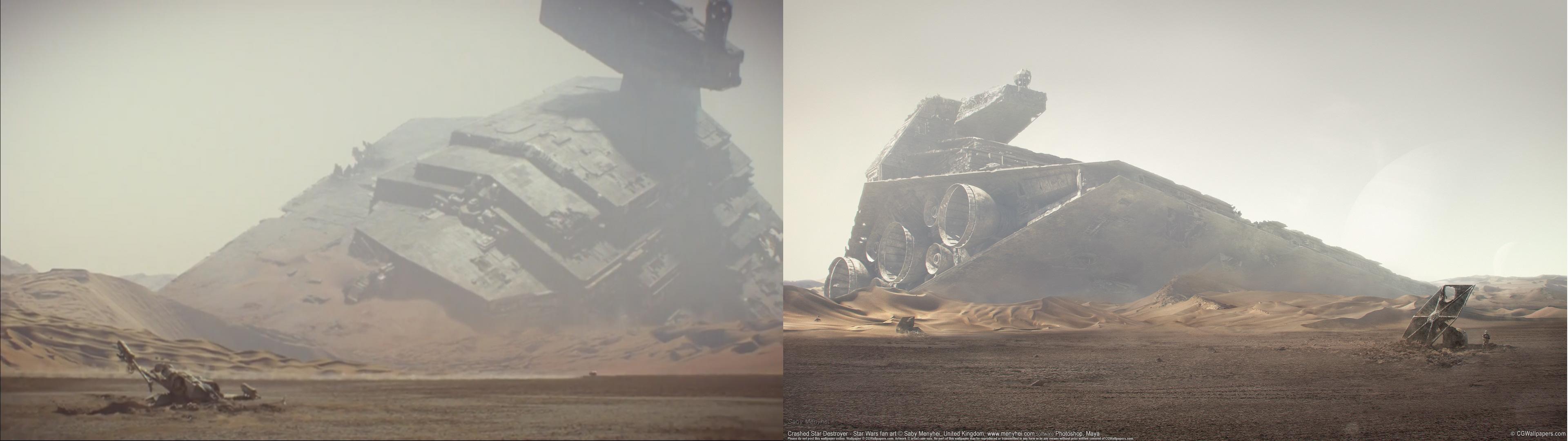 SW – Crashed Star Destroyer