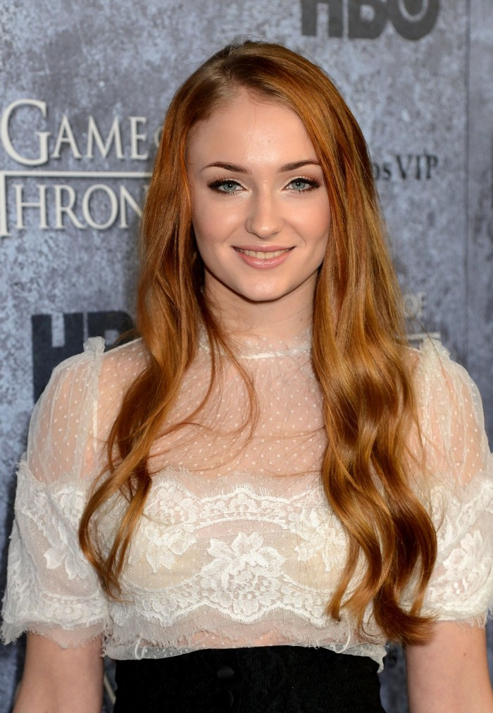 Sophie In White 700x1012 Sophie In White vertical wallpaper Sophie Turner Sexy