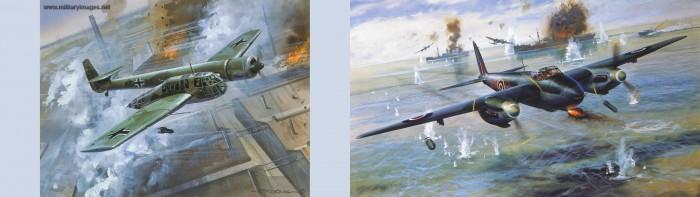 WW2 - BV141 & Mosquito