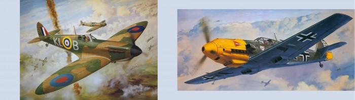 WW2 - Spitfire & ME109
