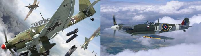 WW2 - Stuka & Spitfire